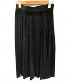 MUVEIL Work(ミュベールワーク)の古着「ホットフィット付プリーツスカート」 ブラック