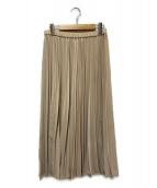 ()の古着「ジョーゼットプリーツスカート」|ベージュ