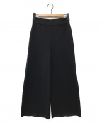 AKIRA NAKA(アキラナカ)の古着「Tara back-lone knit pants」|ブラック