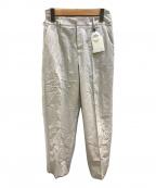 ROPE(ロペ)の古着「ピンタックシガレットパンツ」|ライトグレー