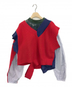 KOLOR(カラー)の古着「ニット」|レッド