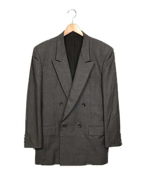 COMME des GARCONS HOMME(コムデギャルソン オム)COMME des GARCONS HOMME (コムデギャルソン オム) ダブルテーラードジャケット グレー サイズ:Lの古着・服飾アイテム