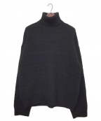 TAKAHIROMIYASHITA TheSoloIst.(タカヒロミヤシタザソロイスト)の古着「turtleneck fair Isle sweater」|ブラック