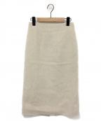 MADISON BLUE(マディソンブルー)の古着「ウールカシミヤタイトスカート」 ベージュ