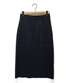 ADORE(アドーア)の古着「ステッチジャガードニットスカート」|ブラック