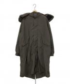 ATON(エイトン)の古着「VENTILE FISHTAIL COAT」 オリーブ
