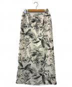 ROPE(ロペ)の古着「ボタニカル柄タイトスカート」|ホワイト
