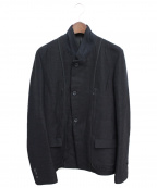 THE VIRIDI-ANNE(ヴィリジアン)の古着「リネンジャケット」 ブラック