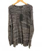 THE VIRIDI-ANNE(ザ ヴィリジアン)の古着「シルク100%ニット」 グレー×ブラック