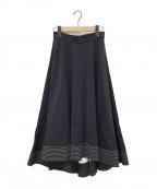 LE CIEL BLEU(ルシェルブルー)の古着「フレアスカート」|ブラック