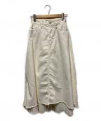 YANUK(ヤヌーク)の古着「フレアデニムスカート」 ホワイト