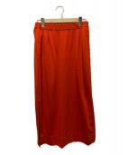 ()の古着「サイドスリットウエストゴムスカート」|レッド