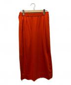 ebure(エブール)の古着「サイドスリットウエストゴムスカート」 レッド