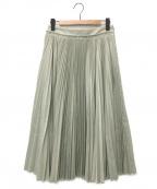 YLEVE(イレーヴ)の古着「チノプリーツスカート」|ライトグリーン