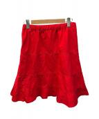 ()の古着「ティアードスカート」 レッド