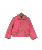 tricot COMME des GARCONS()の古着「ハウンドトゥースジャケット」|ピンク