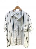YOKE(ヨーク)の古着「MULTISTRIPE OPEN COLLAR SHIRTS」 ホワイト