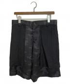 BLACK COMME des GARCONS(ブラックコムデギャルソン)の古着「ドッキングハーフパンツ」 ブラック