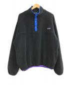()の古着「ハーフジップフリースジャケット」 ブラック