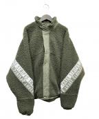 adidas(アディダス)の古着「ボアジャケット」 グリーン