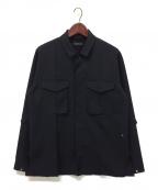 PORTVEL(ポートヴェル)の古着「ボックスシルエットシャツ」 ブラック