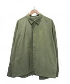 Porter Classic(ポータークラシック)の古着「21SS スーパーナイロンミリタリーシャツ」|オリーブ