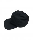 MHL(エムエイチエル)の古着「COTTON NYLON OXFORD CAP」|ブラック