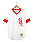 MITCHELL & NESS(ミッチェルアンドネス)の古着「ゲームシャツ」|ホワイト