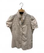 BURBERRY BLUE LABEL(バーバリーブルーレーベル)の古着「フリルシャツ」|ピンク