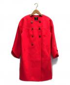 ted baker(テッドベーカー)の古着「ノーカラーウールコート」 ピンク