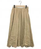 SUZUKI TAKAYUKI(スズキタカユキ)の古着「long skirt」 ベージュ