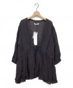 SUZUKI TAKAYUKI(スズキタカユキ)の古着「cache-coeur blouse」 チャコールグレー