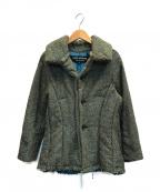 JUNYA WATANABE CdG(ジュンヤワタナベコムデギャルソン)の古着「tweed padded jacket」|ブラウン × オリーブ