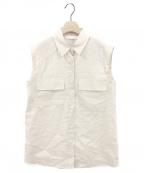 TELA(テラ)の古着「ノースリーブシャツ」|ベージュ