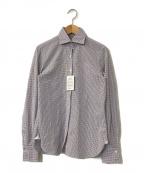 finamore(フィナモレ)の古着「チェックシャツ」 ホワイト
