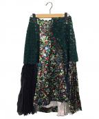 FACETASM(ファセッタズム)の古着「TIERED PLEATS スカート」 ブラック