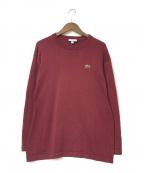 LACOSTE(ラコステ)の古着「ニットロングスリーブTシャツ」|ワインレッド