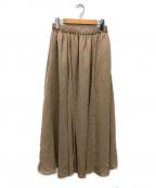 FRAMeWORK(フレームワーク)の古着「CU/PEキリカエフレアスカート」 ベージュ