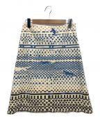 mina perhonen(ミナ ペルホネン)の古着「総柄スカート/sprint」 アイボリー
