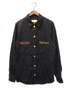 GUCCI()の古着「ブラックデニムエコウォッシュシャツ」 ブラック