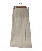 GALLARDA GALANTE(ガリャルダガランテ)の古着「リネンロングスカート」 ベージュ