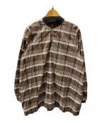 45R(フォーティファイブアール)の古着「コットンチェックブラウス」|ブラウン