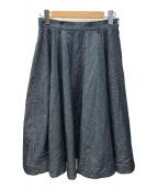 ()の古着「ギマハケ目ダンガリースカート」 ネイビー