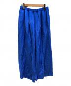 VERMEIL par iena(ヴェルメイユパーイエナ)の古着「トリアセリネンカラーパンツ」 ブルー