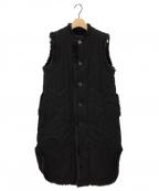 noir kei ninomiya(ノワール ケイ ニノミヤ)の古着「スリーブレスコート」|ブラック