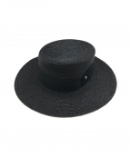 HELEN KAMINSKI(ヘレンカミンスキー)の古着「ラフィアブライドクラシックカンカン帽」 ブラック