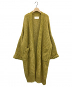 TODAYFUL(トゥデイフル)の古着「Lowgauge Knit Gown」 イエロー