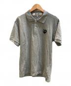 PLAY COMME des GARCONS(プレイ コムデギャルソン)の古着「ハートワッペンポロシャツ」|グレー