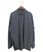BALENCIAGA(バレンシアガ)の古着「バックロゴチェックシャツ」|ブラック