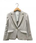 KUMIKYOKU(クミキョク)の古着「2WAYダブルクロステーラードジャケット」|ベージュ